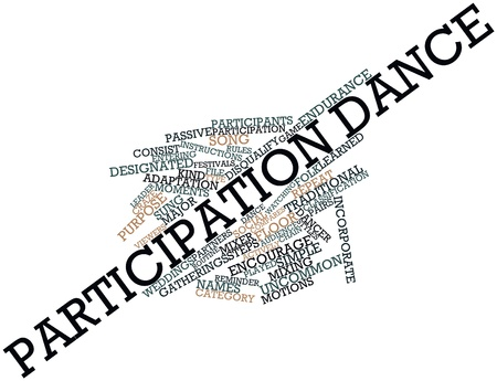 Abstract word cloud for Participation dance with related tags and terms Stock Photo - 16678611