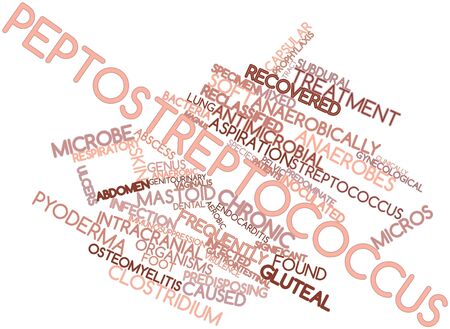 Abstract word cloud for Peptostreptococcus with related tags and terms Stock Photo - 16678663