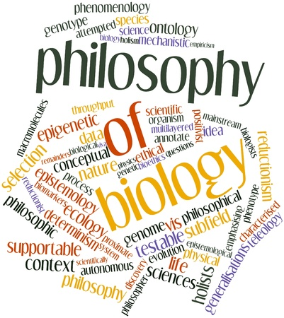 Abstract word cloud for Philosophy of biology with related tags and terms Stock Photo - 16679009