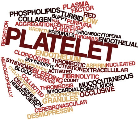 Abstract word cloud for Platelet with related tags and terms Stock Photo - 16678800