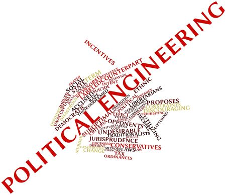 Abstract word cloud for Political engineering with related tags and terms Stock Photo - 16678598
