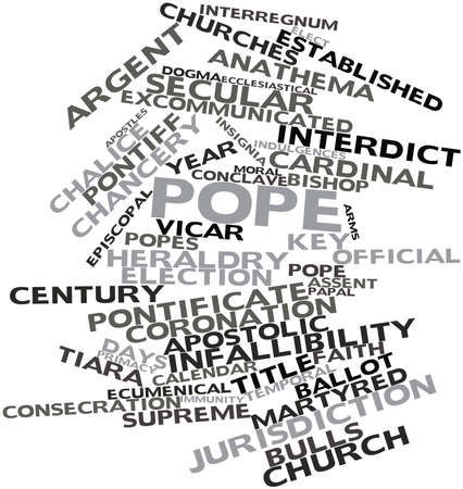 Abstract word cloud for Pope with related tags and terms Stock Photo - 16678630