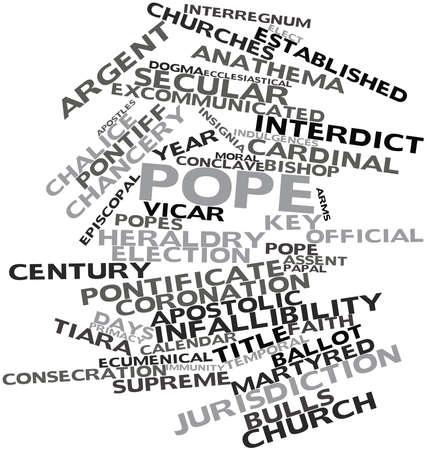 inmunidad: Nube palabra abstracta para el Papa con las etiquetas y términos relacionados