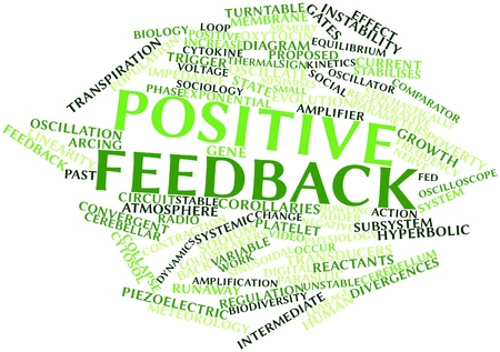 Abstract word cloud for Positive feedback with related tags and terms Stock Photo - 16678682