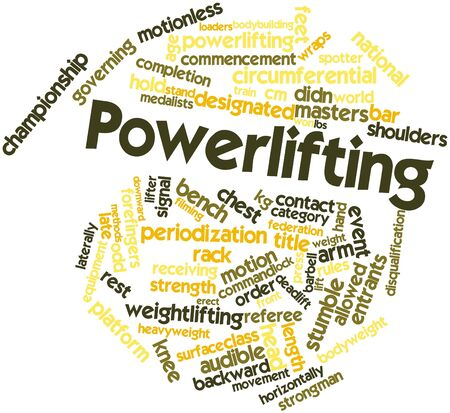 Abstract word cloud for Powerlifting with related tags and terms Stock Photo - 16678683