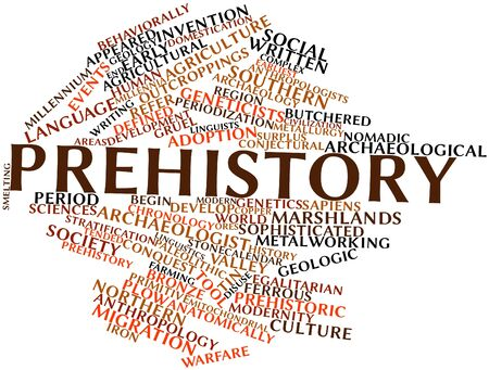 Abstract word cloud for Prehistory with related tags and terms Stock Photo - 16678992