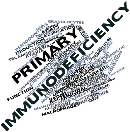 assays: Abstract word cloud for Primary immunodeficiency with related tags and terms