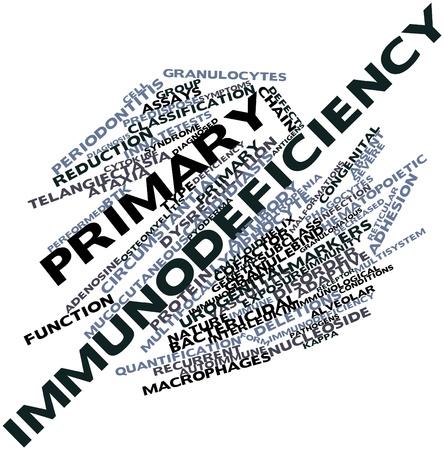 innate: Word cloud astratto per immunodeficienza primaria con tag correlati e termini Archivio Fotografico
