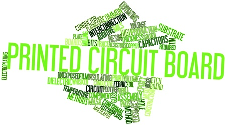 electroplating: Abstract word cloud for Printed circuit board with related tags and terms