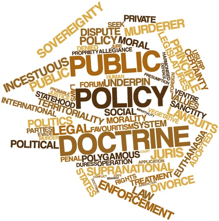 doctrine: Abstract word cloud for Public policy doctrine with related tags and terms
