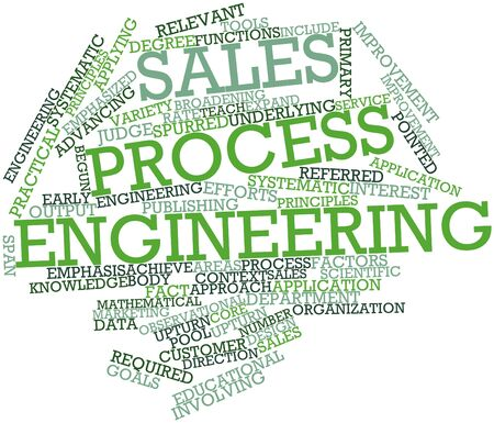 observational: Abstract word cloud for Sales process engineering with related tags and terms