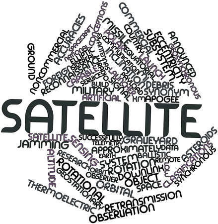 warhead: Abstract word cloud for Satellite with related tags and terms