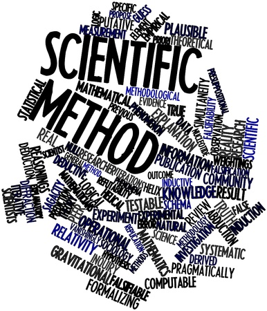 Abstract word cloud for Scientific method with related tags and terms Stock Photo - 16679250
