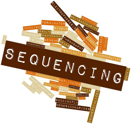 Abstract word cloud for Sequencing with related tags and terms Stock Photo - 16678632