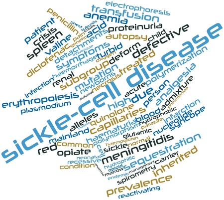 Abstract word cloud for Sickle-cell disease with related tags and terms Stock Photo - 16679082