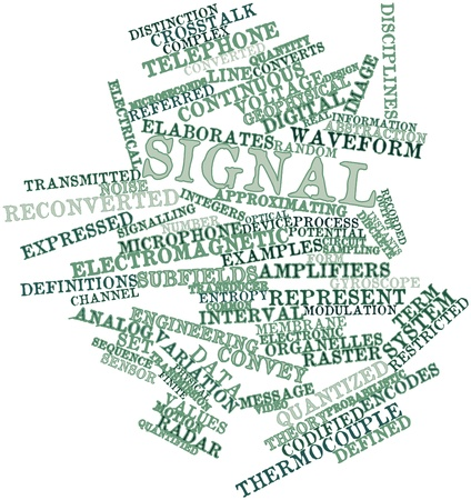 converts: Abstract word cloud for Signal with related tags and terms