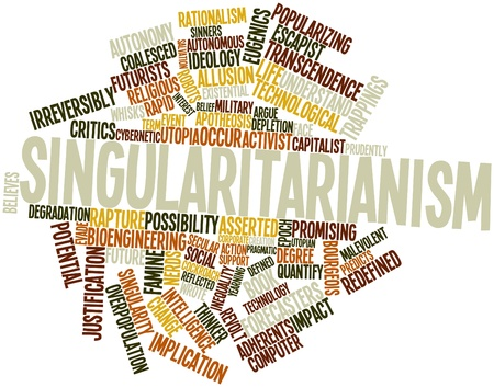 transcendence: Abstract word cloud for Singularitarianism with related tags and terms