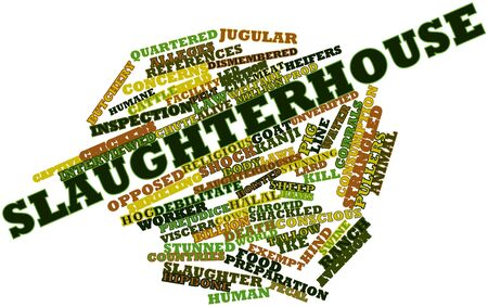 lard: Abstract word cloud for Slaughterhouse with related tags and terms