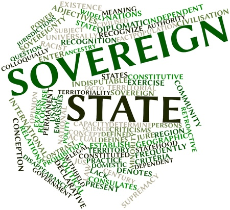 declarative: Abstract word cloud for Sovereign state with related tags and terms