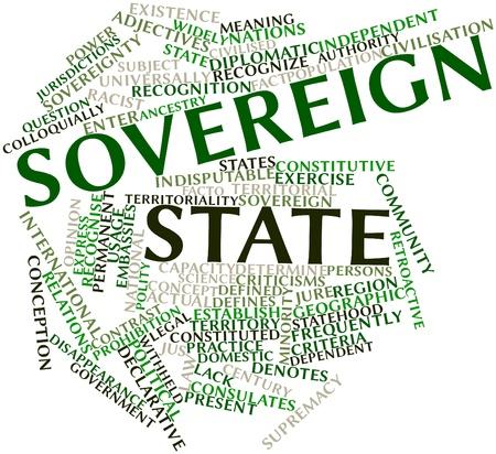 declarative: Word cloud astratto per Stato sovrano con tag correlati e termini