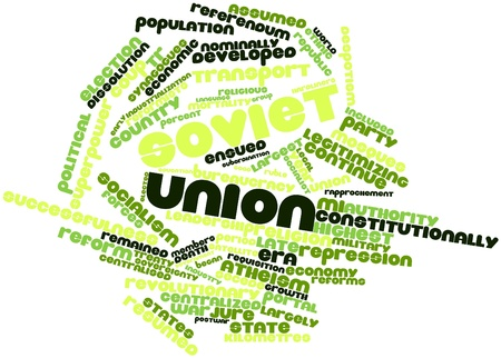 constitutionally: Abstract word cloud for Soviet Union with related tags and terms