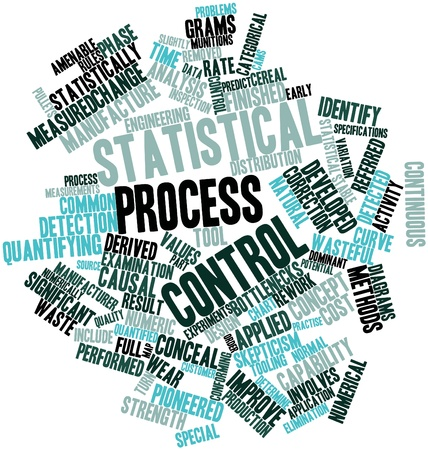 bottlenecks: Abstract word cloud for Statistical process control with related tags and terms Stock Photo
