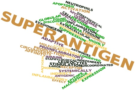 Abstract word cloud for Superantigen with related tags and terms Stock Photo - 16678599