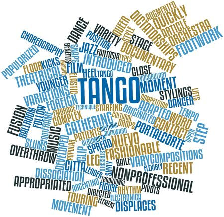 dissociation: Abstract word cloud for Tango with related tags and terms