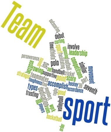 trusting: Abstract word cloud for Team sport with related tags and terms