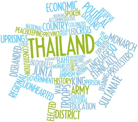 constitutionality: Abstract word cloud for Thailand with related tags and terms Stock Photo
