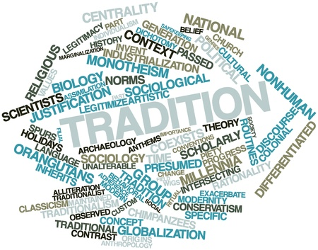 Abstract word cloud for Tradition with related tags and terms