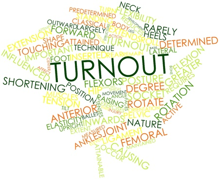 turnout: Abstract word cloud for Turnout with related tags and terms Stock Photo