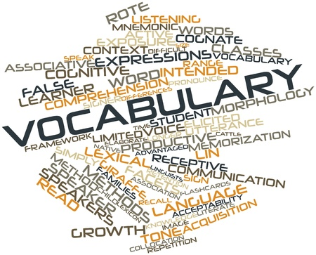 receptive: Abstract word cloud for Vocabulary with related tags and terms
