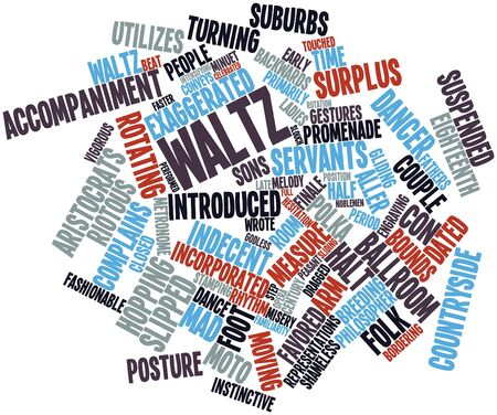 finale: Abstract word cloud for Waltz with related tags and terms