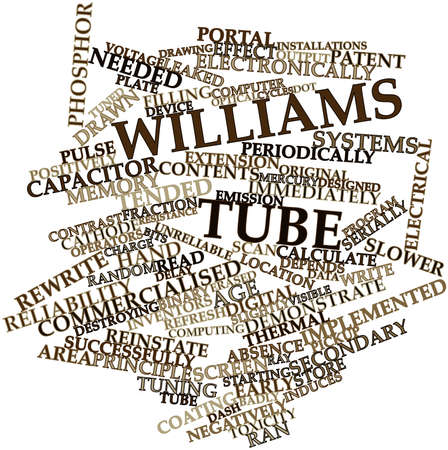 toxicity: Abstract word cloud for Williams tube with related tags and terms Stock Photo