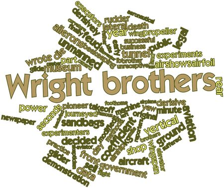 airfoil: Abstract word cloud for Wright brothers with related tags and terms