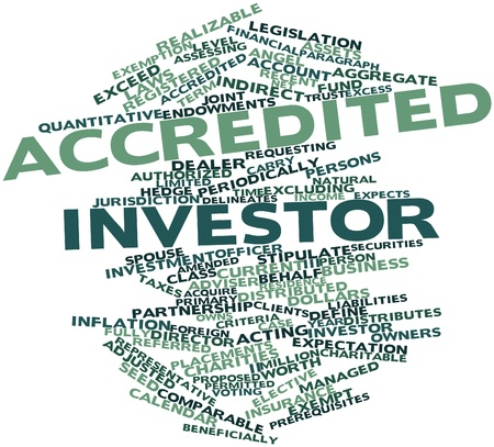 inflation: Abstract word cloud for Accredited investor with related tags and terms Stock Photo