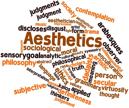 Abstract word cloud for Aesthetics with related tags and terms Stock Photo - 16720057