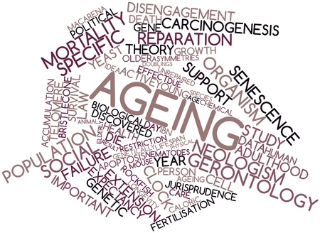 Abstract word cloud for Ageing with related tags and terms Stock Photo - 16720056