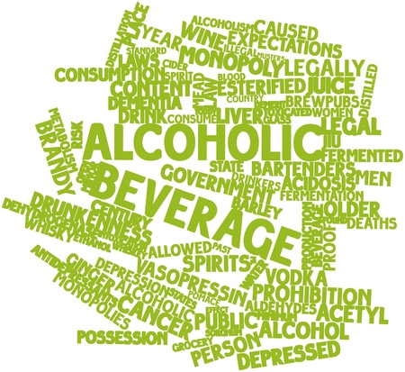 Abstract word cloud for Alcoholic beverage with related tags and terms Stock Photo - 16720018