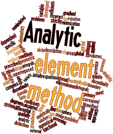 correspond: Abstract word cloud for Analytic element method with related tags and terms