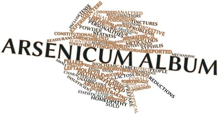 neatness: Abstract word cloud for Arsenicum album with related tags and terms