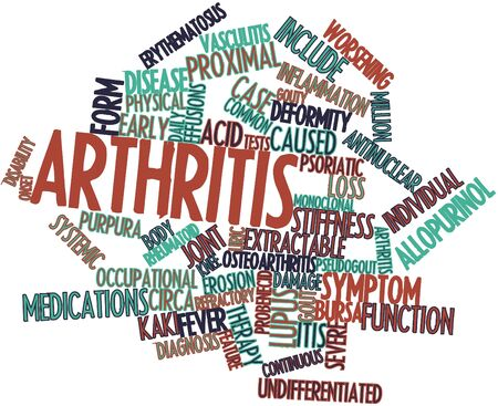 Abstract word cloud for Arthritis with related tags and terms Stock Photo - 16720714