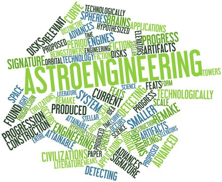 Abstract word cloud for Astroengineering with related tags and terms photo