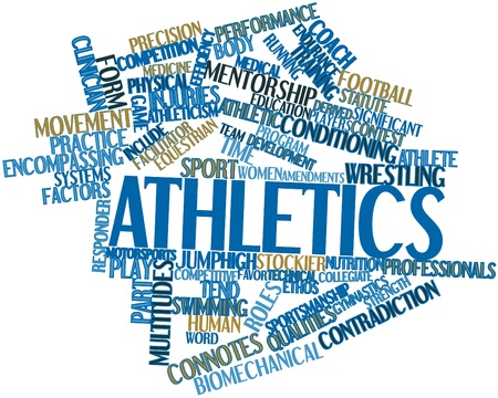 facilitator: Abstract word cloud for Athletics with related tags and terms