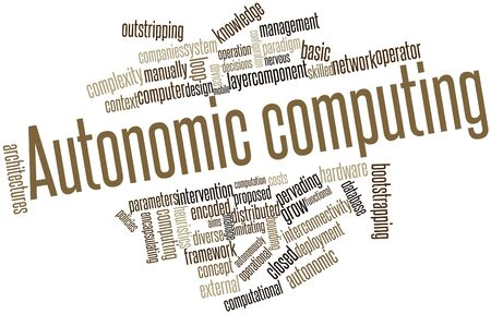 autonomic: Word cloud astratto per Autonomic Computing con tag correlati e termini