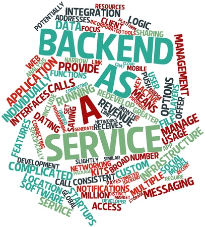 Abstract word cloud for Backend as a service with related tags and terms Stock Photo - 16720751