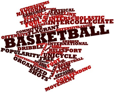 freshmen: Abstract word cloud for Basketball with related tags and terms Stock Photo