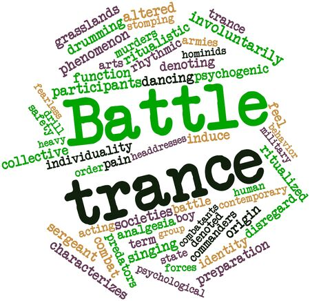 analgesia: Abstract word cloud for Battle trance with related tags and terms