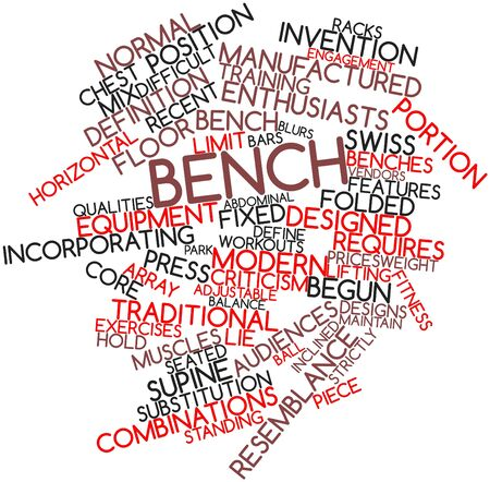Abstract word cloud for Bench with related tags and terms Stock Photo - 16720646